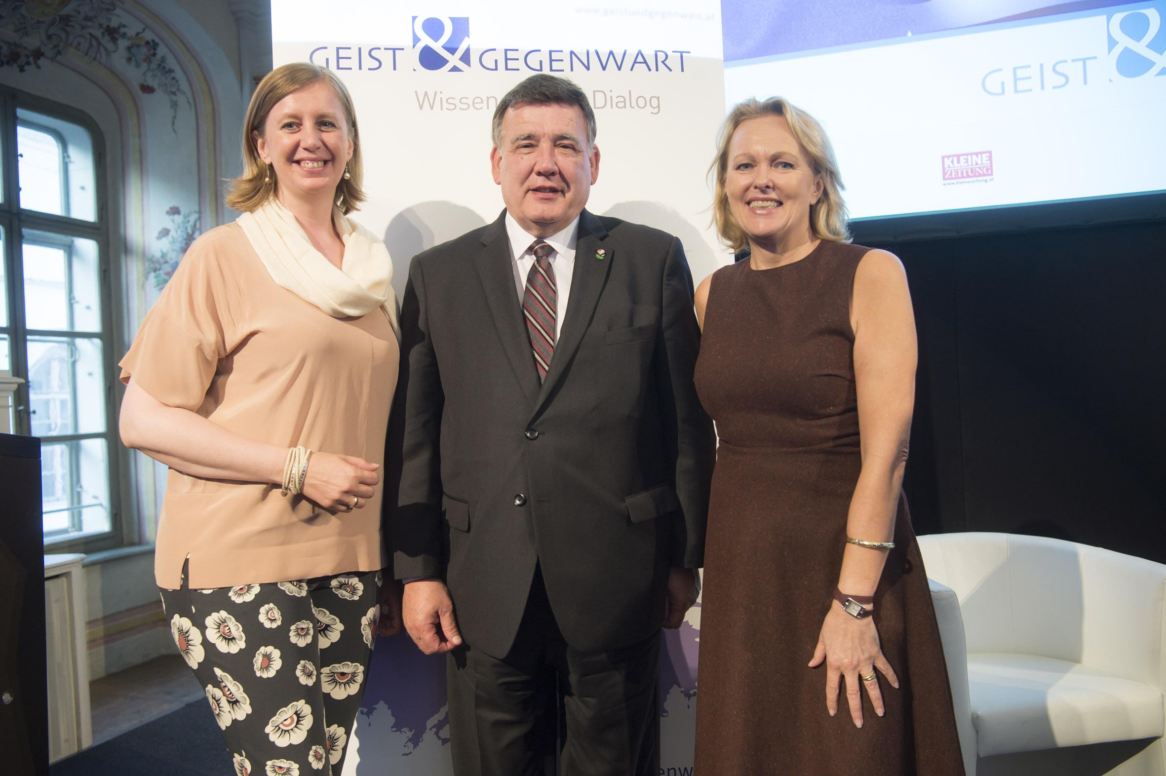 Wissenschafts- und Wirtschaftslandesrätin MMag. Barbara Eibinger-Miedl, US Senator Marc R. Pacheco, Mag. Hannelore Veit
